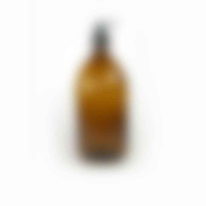 Berylune 500ml Empty Amber Glass Pump Bottle