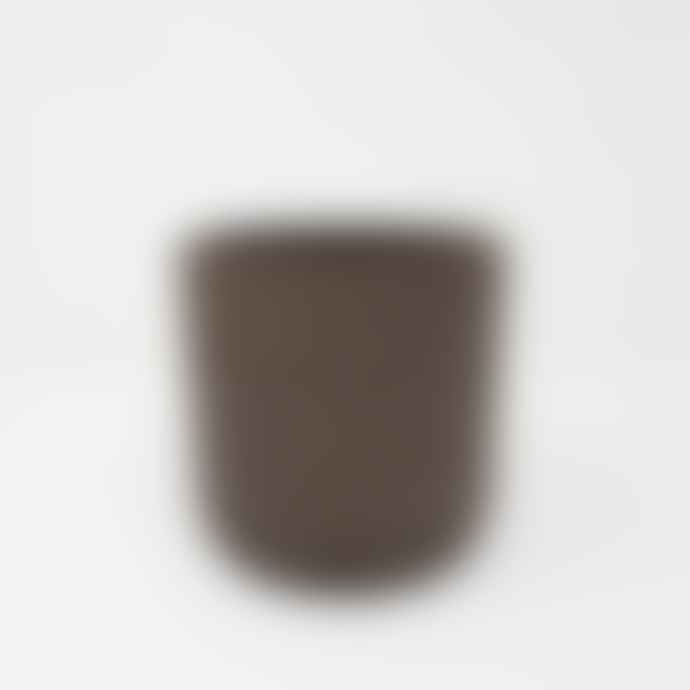 Garden Trading Small Black Brown Straight Sided Cement Pot