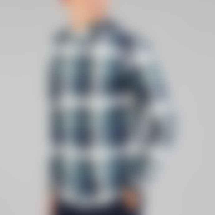Farah Talib Long Sleeve Check Shirt In Green Biscuit