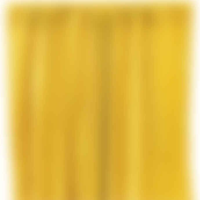 Liv Interior Ochre Velvet Curtain W 140 x H 325 cm