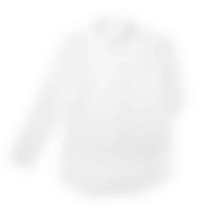 Batabasta Womens White Cotton Shirt With Miniature Skiers Print