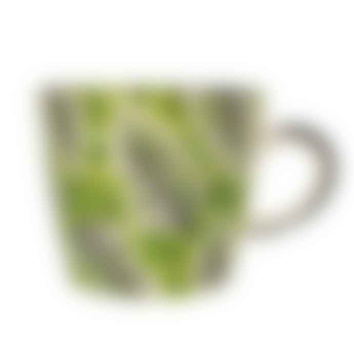 Gisela Graham  Green Fern Ceramic Mug