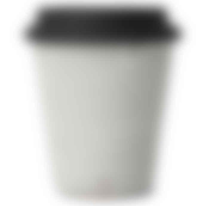 Erika Petersdotter Ceramic take away cup Jord black lid