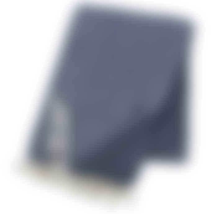 Klippan Yllefabrik Smokey Blue Stella Blanket
