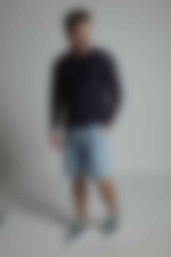 Hymn Lantern Bleach Denim Shorts Blue