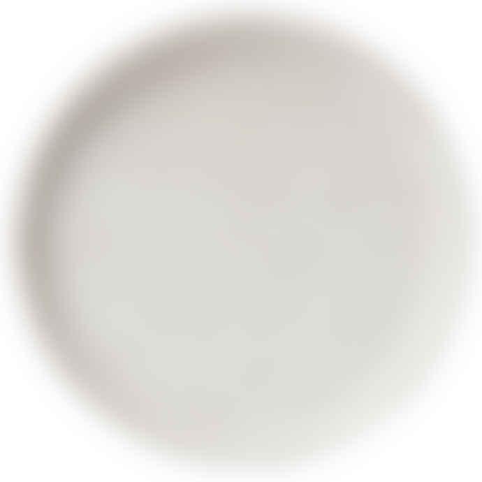 Erika Petersdotter White matt Lava Thrown Dinner Plate