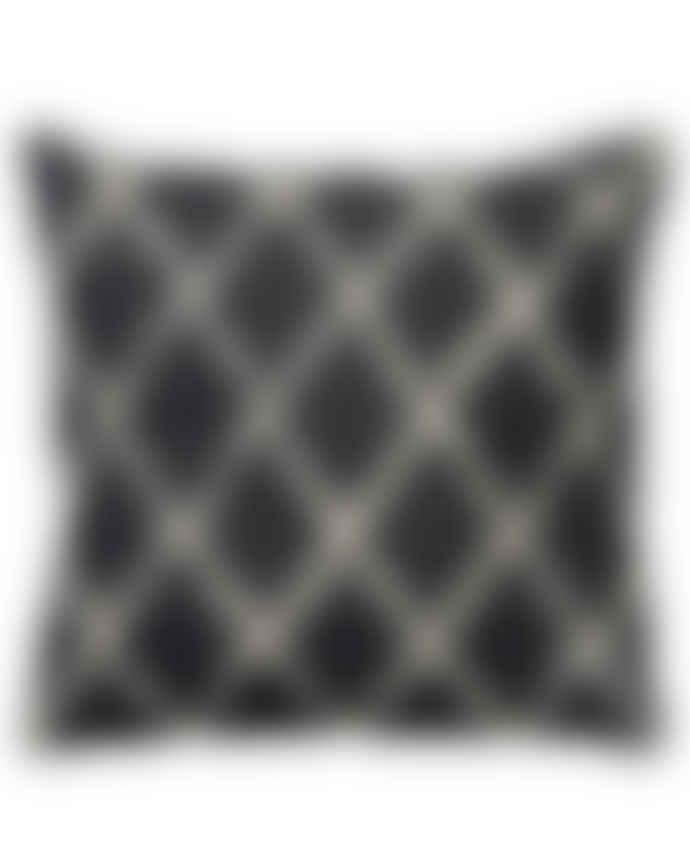 Black Base 50 x 50 Ikat Kerela Linen Cushion