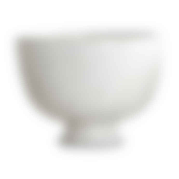 House Doctor Set of 2 White Ceramic Dessert Bowls