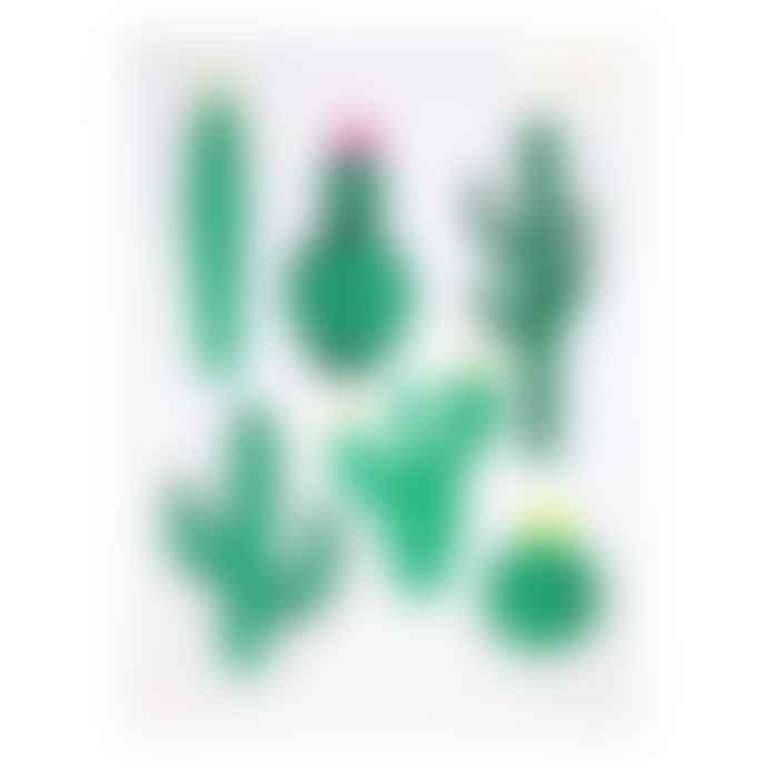 Meri Meri Pack of 2 Cactus Art Prints