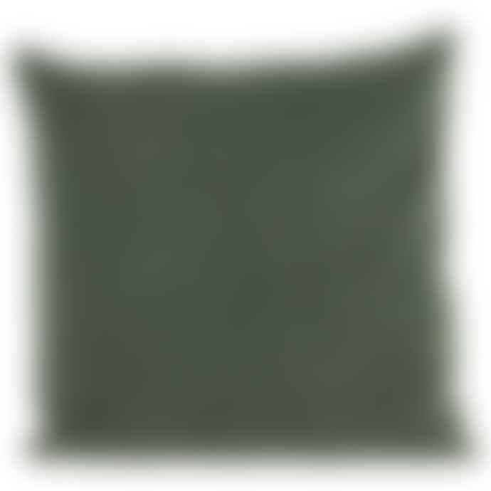 House Doctor Beluga Green Velvet Cushion