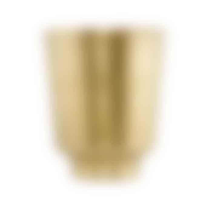 House Doctor Brass Planter