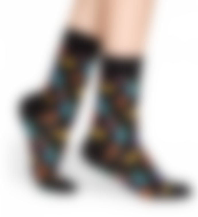 Happy Socks  Black Women Hotdog Socks