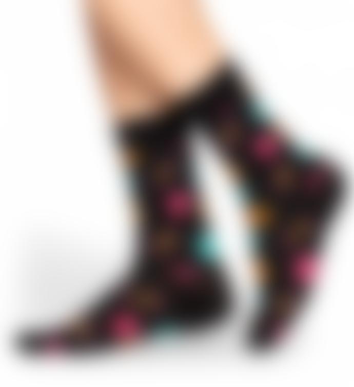 Happy Socks  Black Women Apple Socks