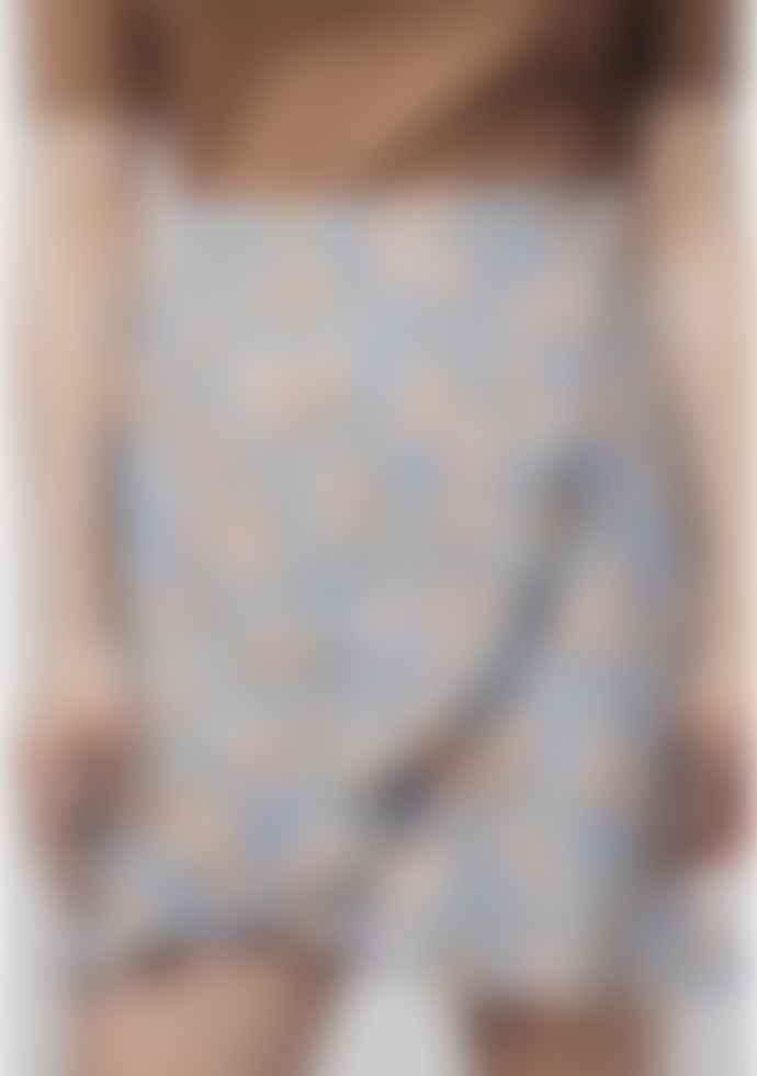 Compania Fantastica Blue Zig Zag Wrap Skirt