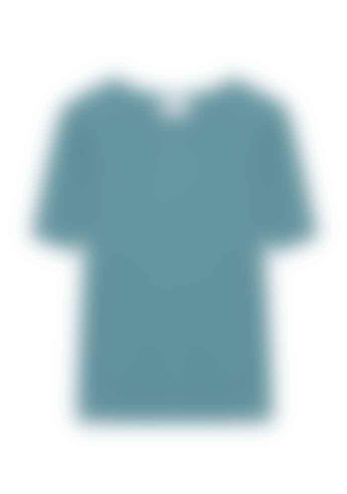 Compania Fantastica Blue Wide Rib Knit Jumper