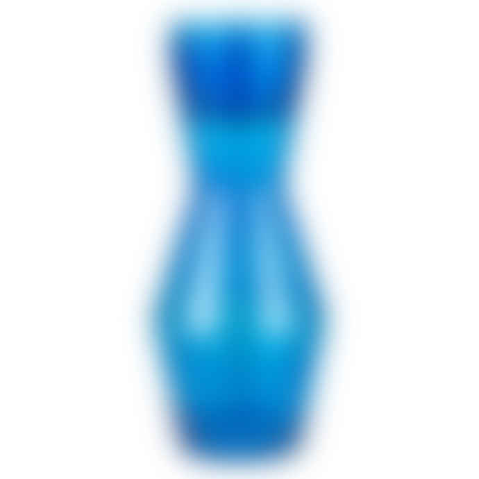 Spring Copenhagen Double Up Mouthblown Glass Carafe 1 L In Blue Colour Complete with 2 Blue Glasses