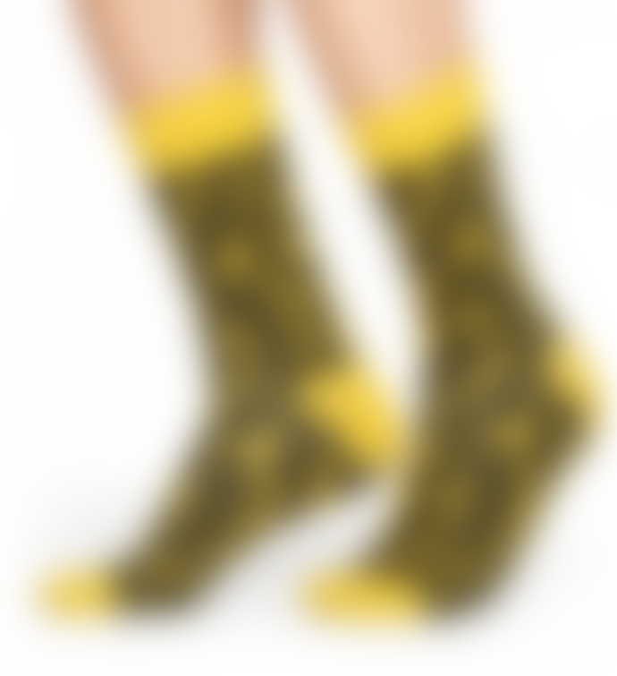 Happy Socks  Yellow Women Twisted Smile Socks
