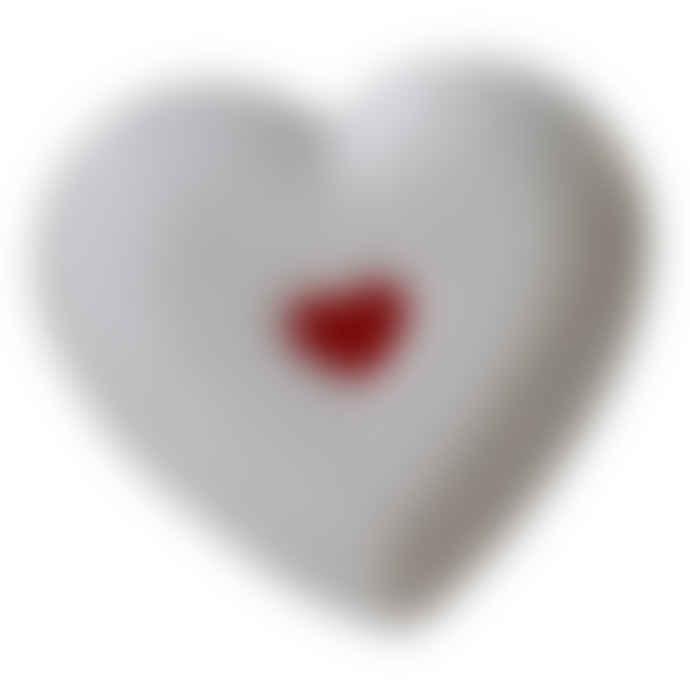 Biggie Best  White Heart Detail Plate