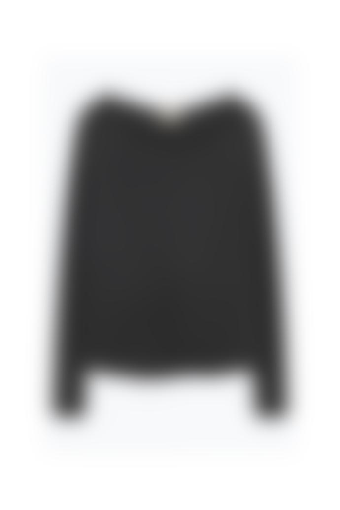 American Vintage Charcoal Melange  Sonoma Round Neck Long Sleeve Tee