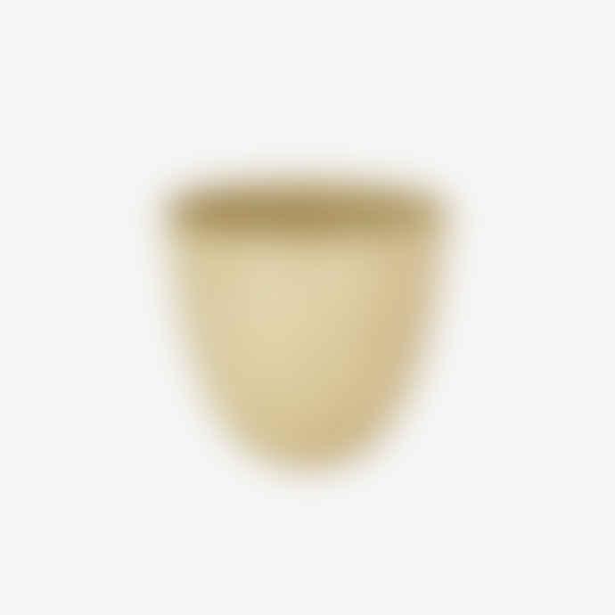 Cécile Preziosa Small Gold Beige Glazed Stoneware Cup