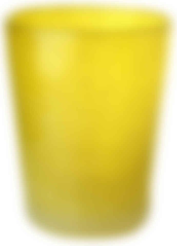 Pols Potten Bright Yellow Coloured Glass Tumbler