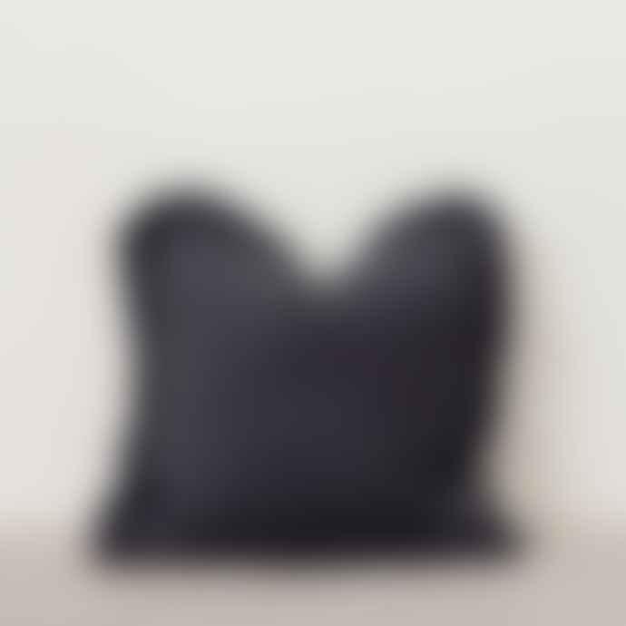 Also Home Slate Grey Linen Ruffle Cushion