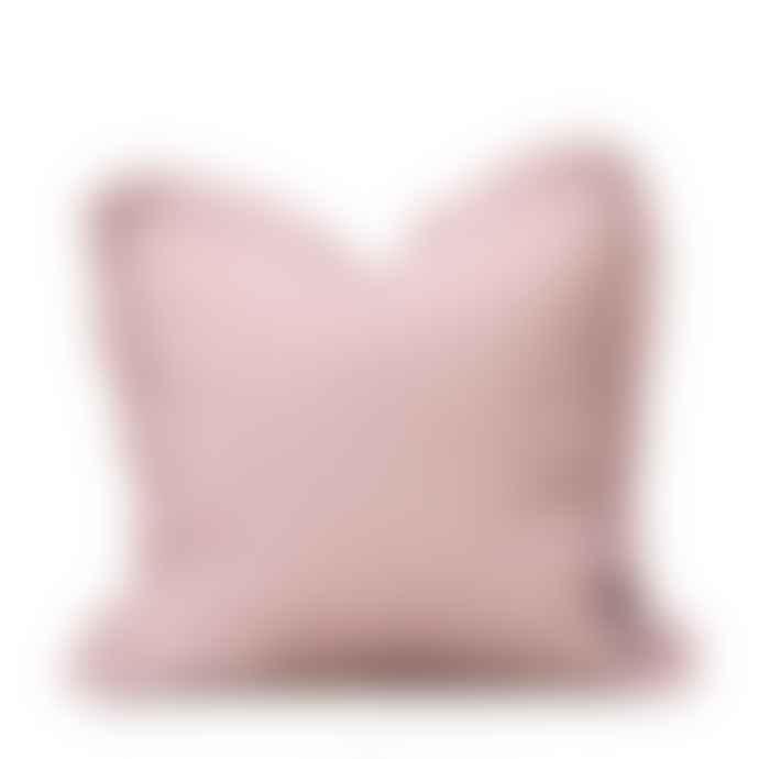 Also Home  Blush Pink Linen Ruffle Cushion