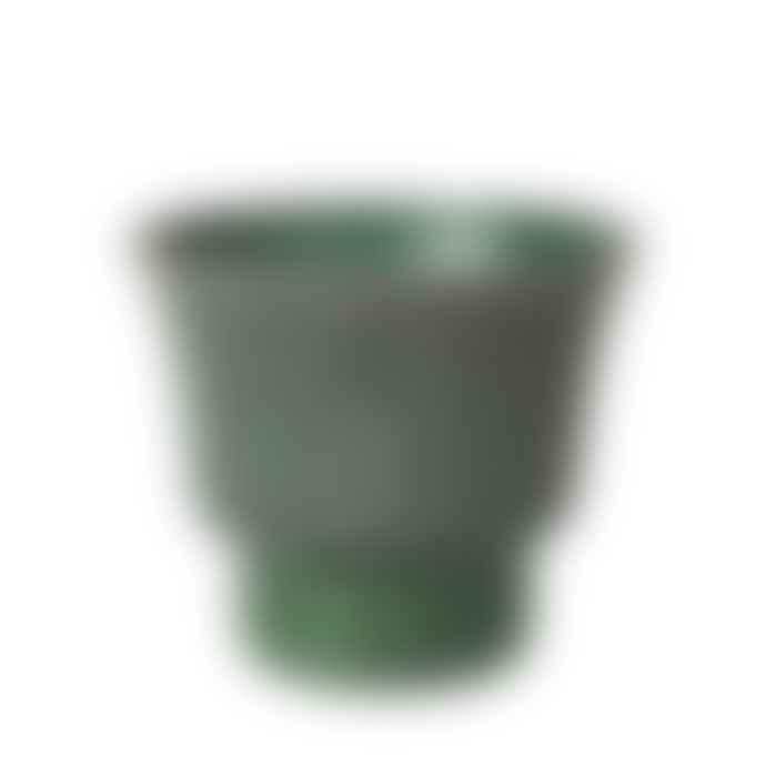 Broste Copenhagen Small Green Stoneware Isaballa Plant Pot