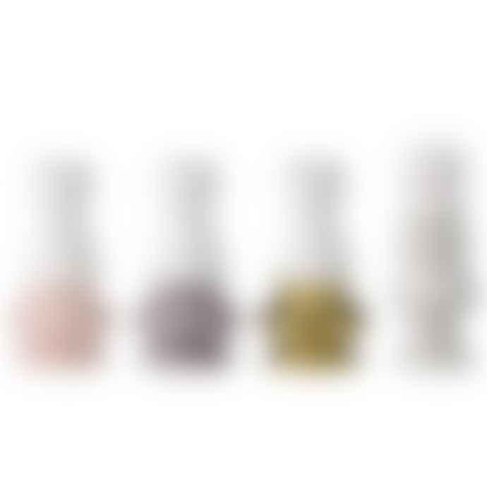 Bloomingville Set Of 4 Multi Color Ceramic Candle Stick