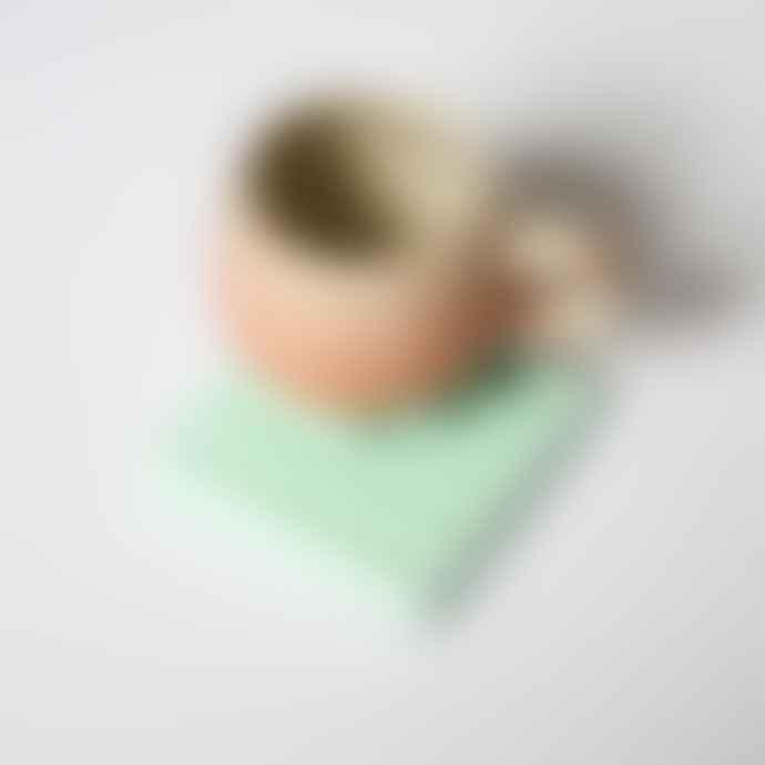 Daniela Rubino Mint Green Zig Zag Coaster Or Pen Holder