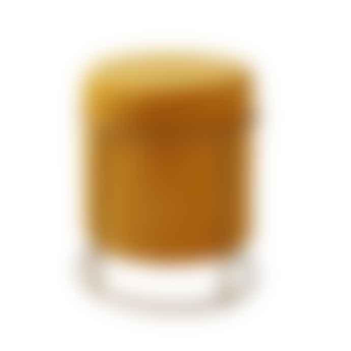 Persora Mustard Yellow Velvet Stool