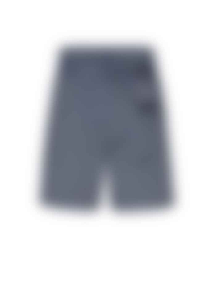 Armedangels Blue Organic Cotton Chambray Shorts