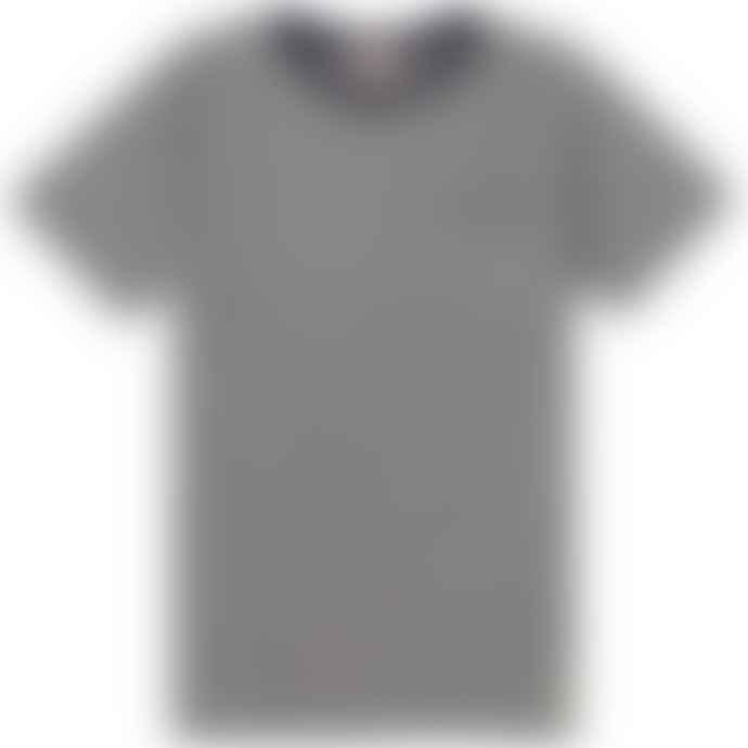 ARMOUR LUX Navy White Heritage Pocket Tee Shirt