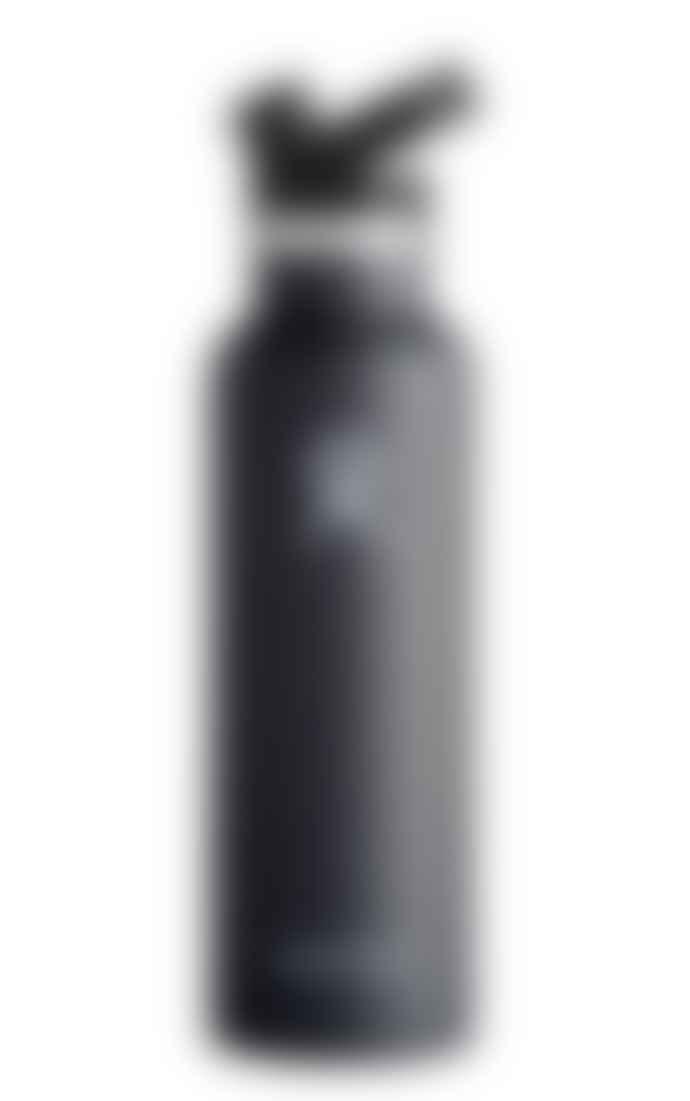 Hydro Flask 21Oz Black Stainless Steel Sport Cap Bottle