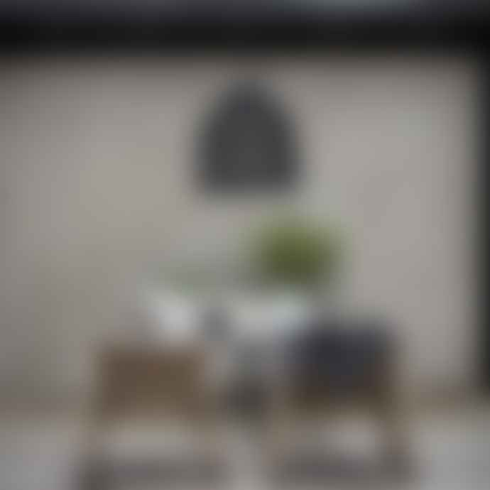 PR Home Black Large Rattan Lampshade Pendant