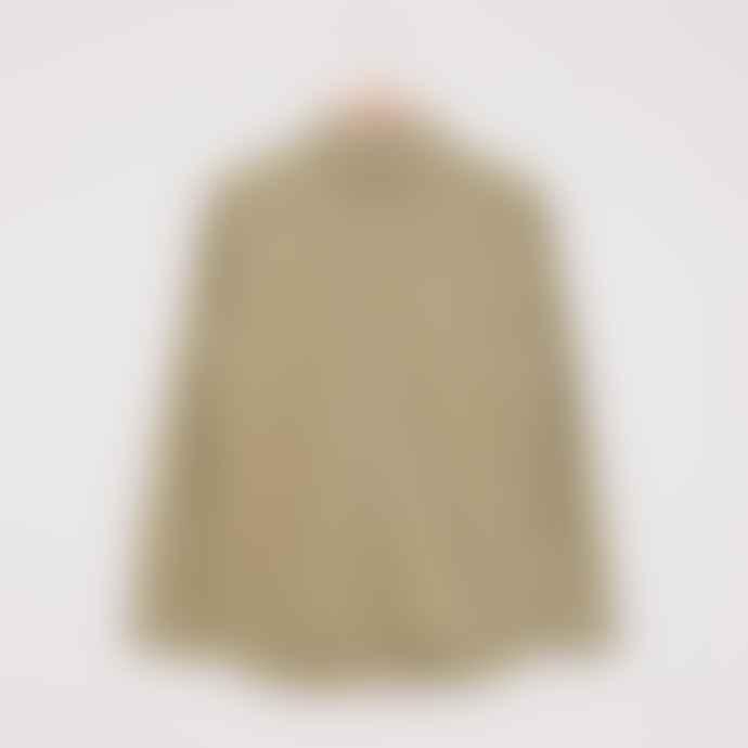 Folk Stitch Pocket Shirt Olive