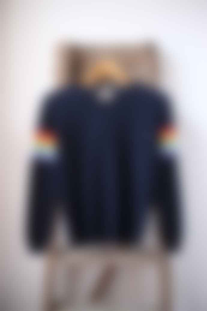 Jumper 1234 Navy Summer Rainbow Cashmere Crew