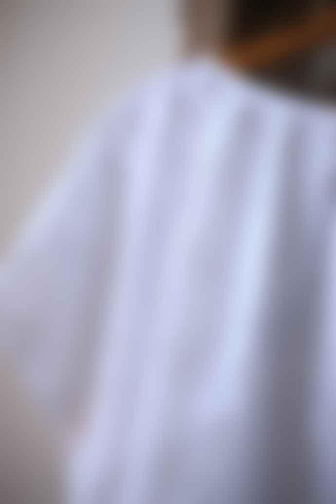 Bellerose White Hard Embroidered Swirl Top