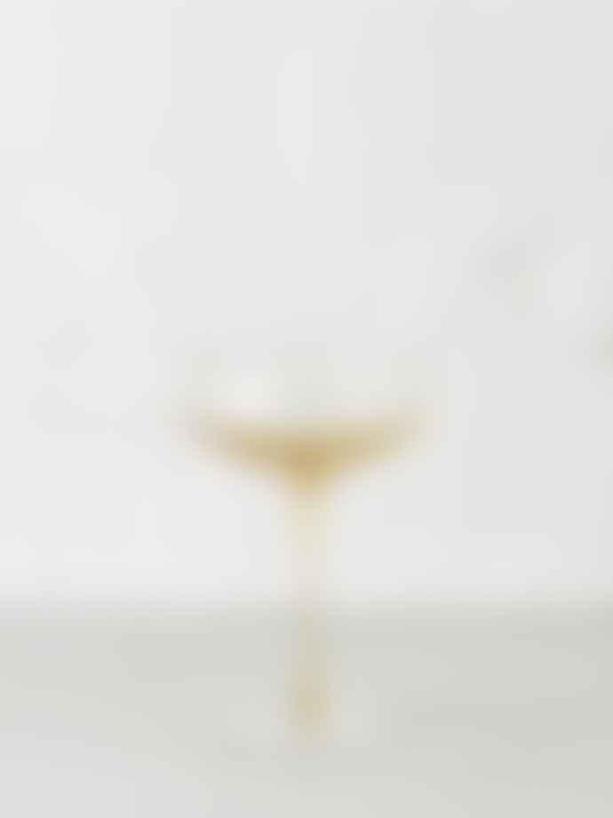 Broste Copenhagen Amber Mouthblown Cocktail Glass