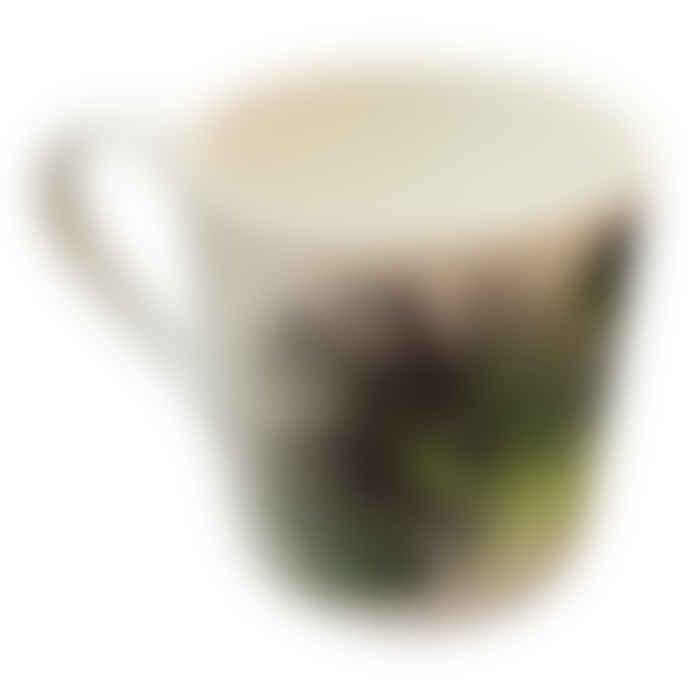 Rolfe & Wills Cabbage Leaf Palm Bone China Mug