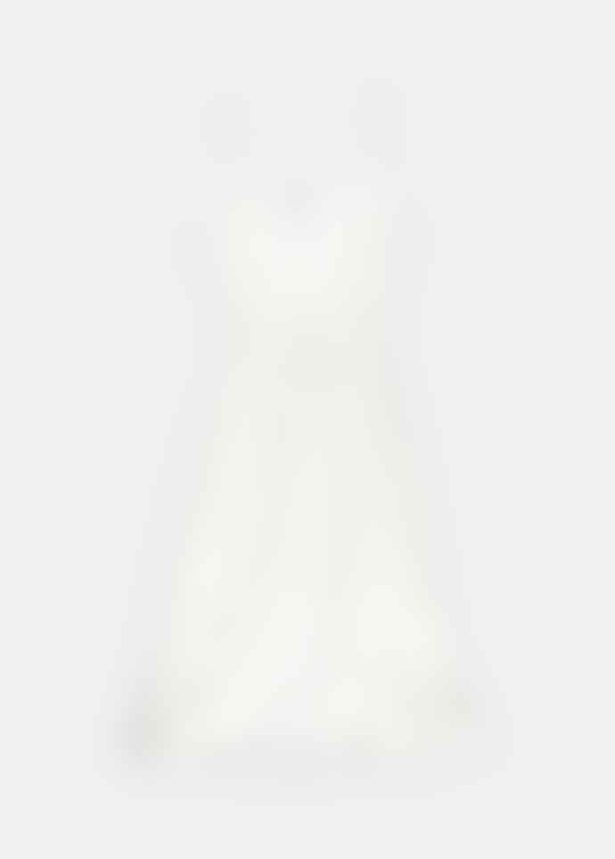 Essentiel Antwerp Slippe White Slip With Silver Dots Dress