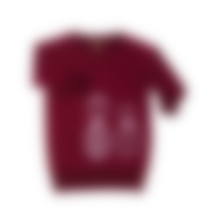 bonjour maurice Kids Organic Cotton & Reversible Burgundy Dress