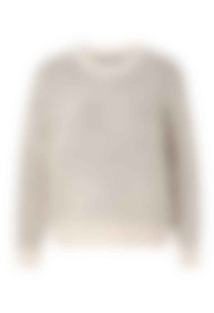 Yaya Structured Two Tone Knitted Round Neckline Sweater