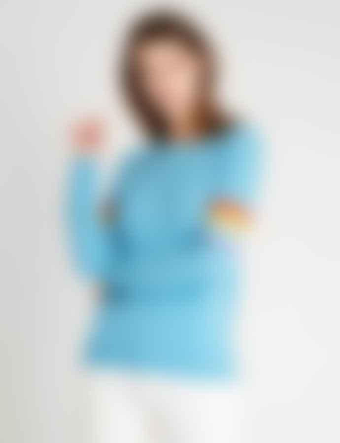 Jumper 1234 Azure Blue Summer Rainbow Sweater