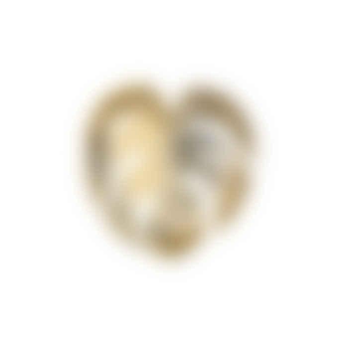 &klevering 1168-04 Gold Small Leaf Monstera Dish Klevering 13390401