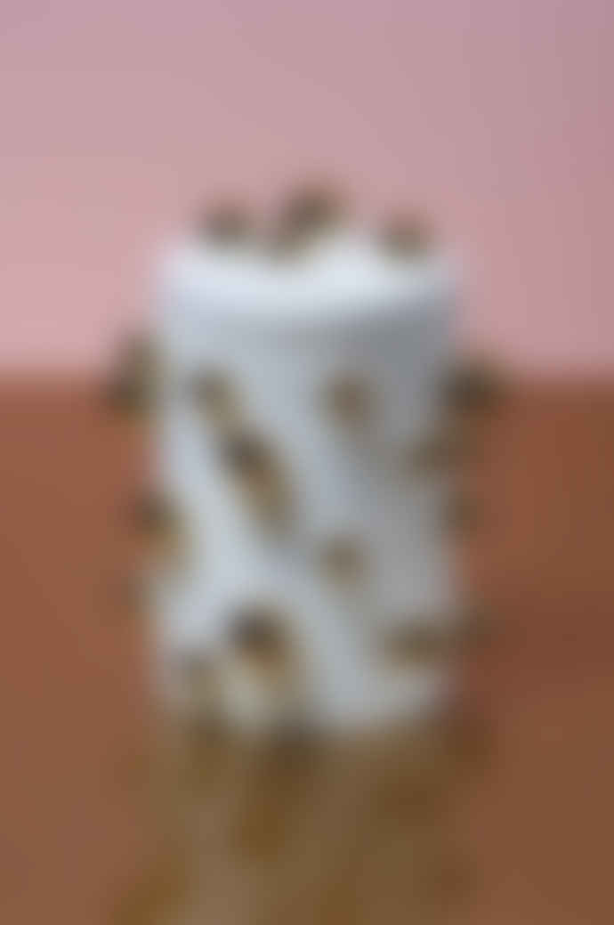&klevering 1433-02 White Gold Dotted Storage Box Klevering 13390301