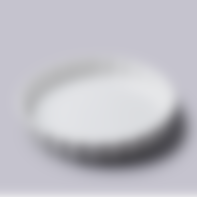 WM Bartleet  &  Sons Large White Stoneware Fluted Flan Dish
