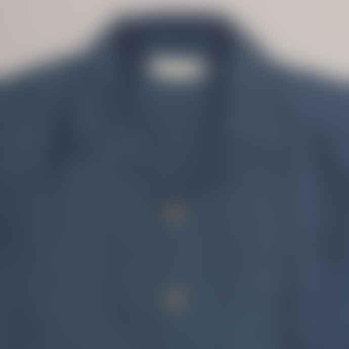 Far Afield Navy Linen Stachio S S Shirt