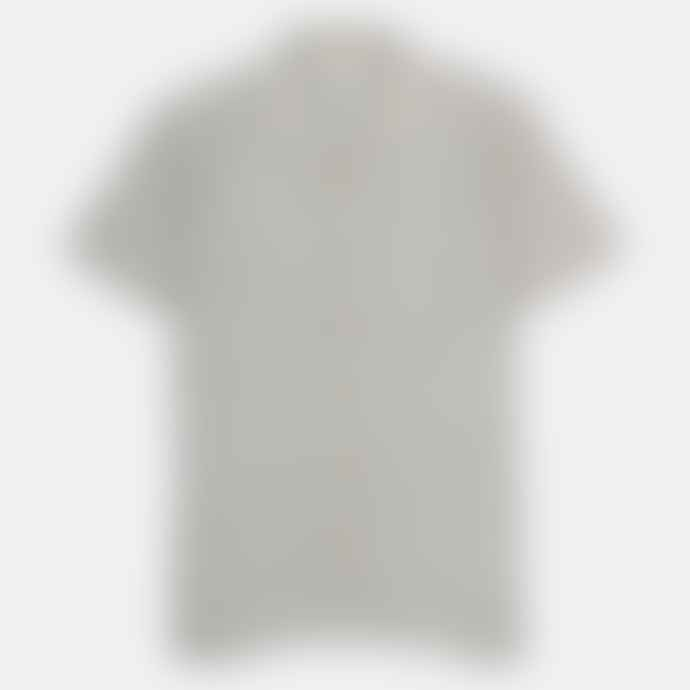 Far Afield Agate Grey Linen Stachio S S Shirt