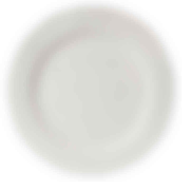 Erika Petersdotter White Matte Lava Rolled Plate